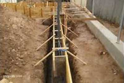 concrete apron foundation
