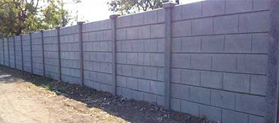 raised Concrete Boundary Wall
